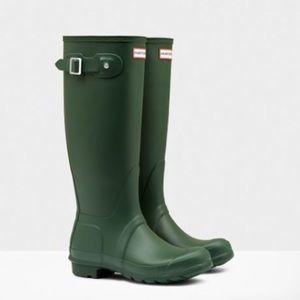 Hunter Original Matte Tall Rain Boots Hunter Green